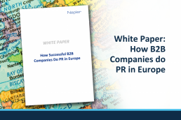 How B2B Companies do PR in Europe