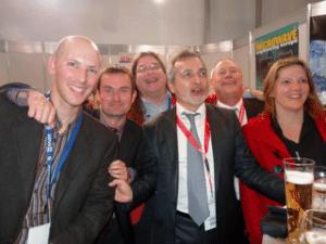 Julien happich (far left) in happier times.