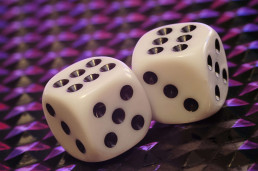 dice - showing randomness